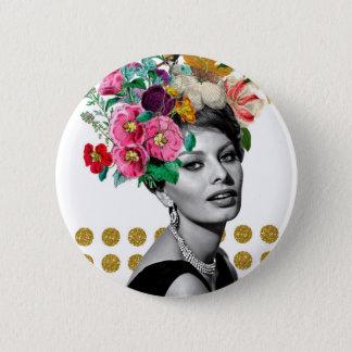 Beautiful Sophia 6 Cm Round Badge