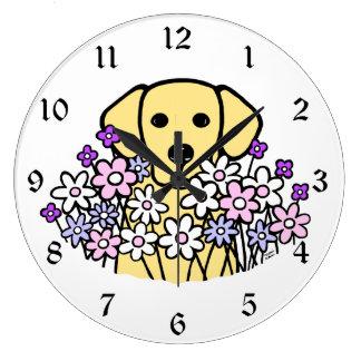 Beautiful Soul Yellow Labrador Illustration 2 Large Clock