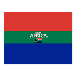 Beautiful South Africa Flag Colors Postcard