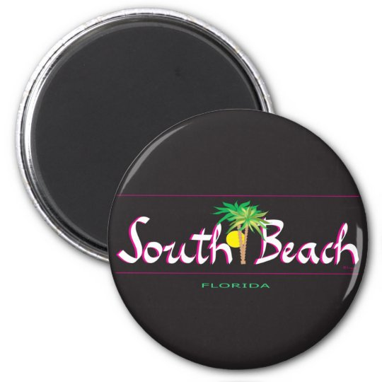 Beautiful South Beach -T-shirt, FL Magnet
