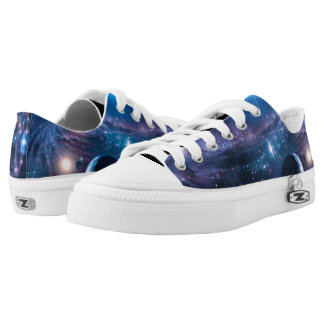 Beautiful Space Galaxy Low Tops