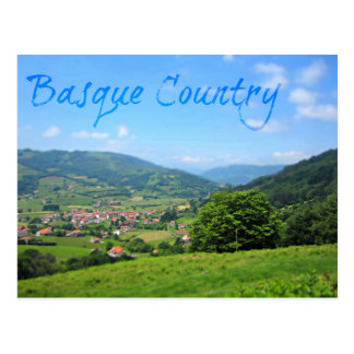 Beautiful Spansh Village in the Basque Countryside Postcard