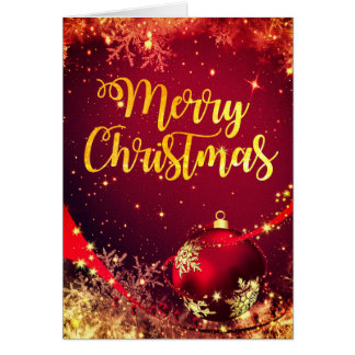 Beautiful Sparkling Christmas Card with Wishes