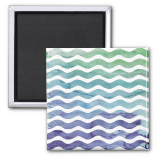 Beautiful Spring Abstract Watercolors Square Magnet