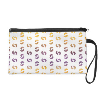 Beautiful Spring Abstract Watercolors Wristlet Clutch