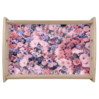 Beautiful Spring Floral Food Trays
