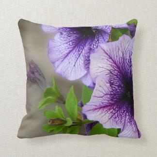 Beautiful spring flowers purple throw pillow