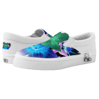 Beautiful Spring Flowers Zipz Slip-US-Women Printed Shoes