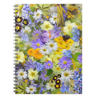 Beautiful Spring Meadow Flowers Spiral Notebook