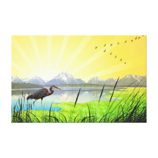 Beautiful spring nature scenery gallery wrap canvas