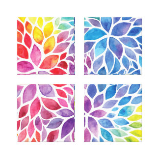 Beautiful Spring Watercolors Gallery Wrapped Canvas