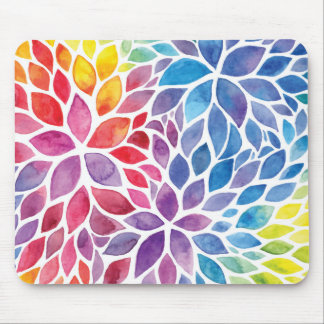 Beautiful Spring Watercolors Mouse Pad