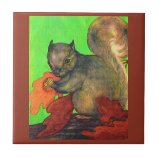 beautiful squirrel ceramic tile