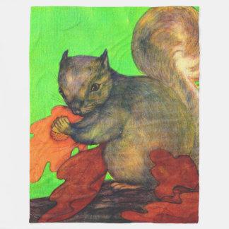 beautiful squirrel print fleece blanket
