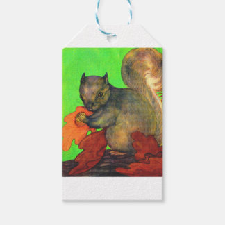 beautiful squirrel print gift tags