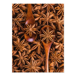 Beautiful star anise spices photo