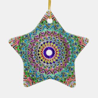 Beautiful Star Shaped Mandala Christmas Ornament