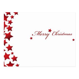 Beautiful Starry Christmas Postcard