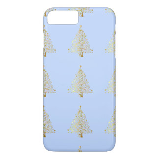 Beautiful starry metallic gold Christmas tree iPhone 8 Plus/7 Plus Case