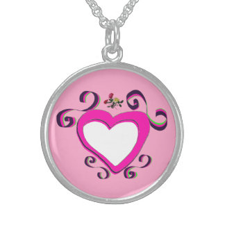 Beautiful Sterling necklace pink template
