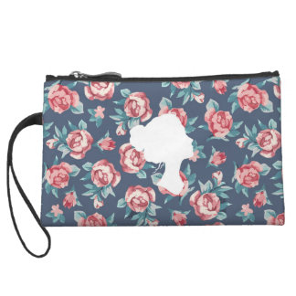 Beautiful Strength (Roses) - Mini Clutch Wristlet