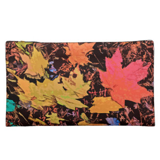 Beautiful suede autumn colours cosmetic bag