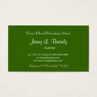 Beautiful summer garden business cards. business card