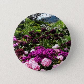 Beautiful summer garden in BC Canada 6 Cm Round Badge