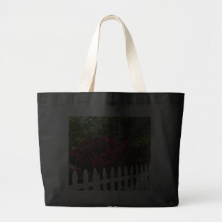 Beautiful Summer Garden; Picket Fence. Canvas Bags