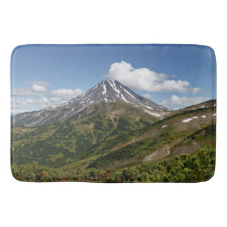 Beautiful summer panorama volcanic landscape bath mat