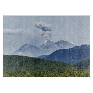 Beautiful summer volcano eruption cutting board