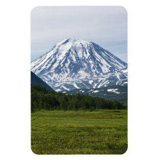 Beautiful summer volcanoes of Kamchatka Peninsula Rectangular Photo Magnet