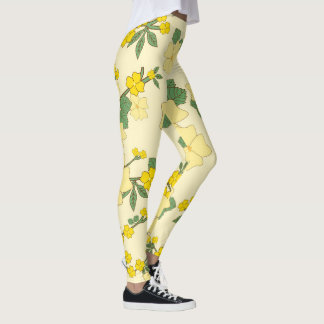 Beautiful Summer Yellow Flower Sunflower Leggings