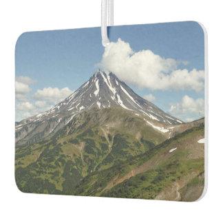 Beautiful summery volcano landscape car air freshener
