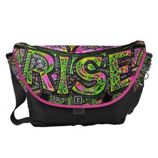 Beautiful Sun Rise ~ Uplifting Graphic Message Messenger Bags