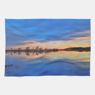 Beautiful sundown hand towels