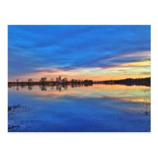 Beautiful sundown postcard