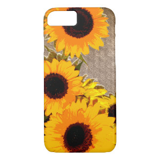 Beautiful sunflower bouquet iPhone 7 case