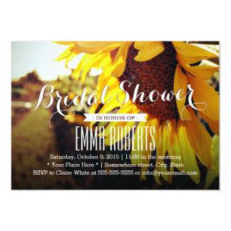 Beautiful Sunflower Bridal Shower Invitations