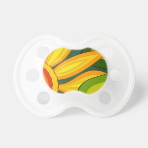 Beautiful Sunflower Baby Pacifiers