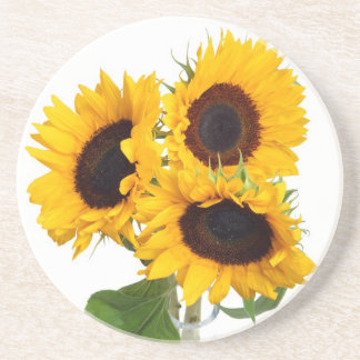 Beautiful Sunflowers Gifts Sandstone Coaster