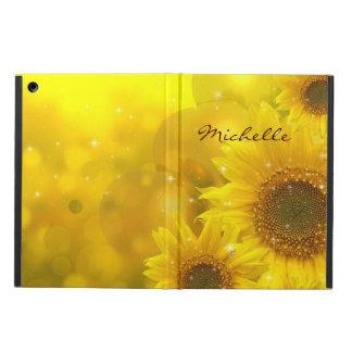 Beautiful Sunflowers Personalized iPad Case