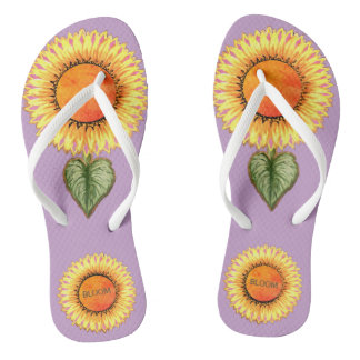 Beautiful Sunflowers Thongs