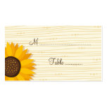 Beautiful sunflowers wedding place card pack of standard business cards