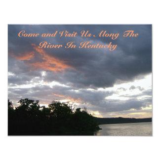 Beautiful Sunrise Along Ohio River cards 11 Cm X 14 Cm Invitation Card