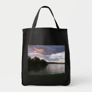 Beautiful Sunrise Along Ohio River Grocery Tote Bag