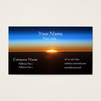 Beautiful Sunrise in space business card