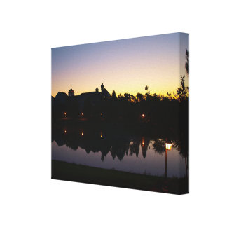Beautiful Sunrise - Orlando Resort Florida At Dawn Canvas Print