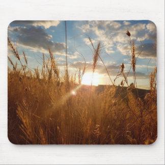 Beautiful Sunrise over a Wheat Field Mouse Pad
