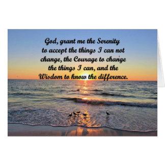 BEAUTIFUL SUNRISE SERENITY PRAYER GREETING CARD